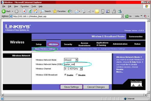 router-configure wireless SSID